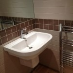 Semi-pedastal Basin and Towel Rail