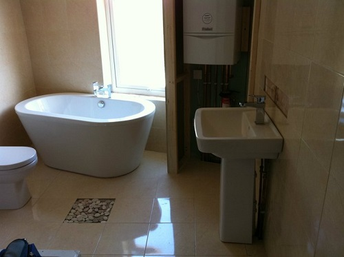 Complete boiler and bathroom installation