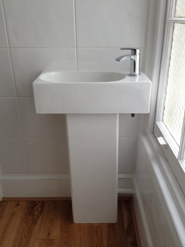 New cloakroom set including basin